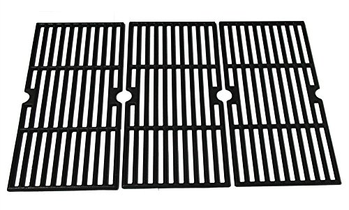 Hongso PCF123 Matte Porcelain Coated Cast Iron Cooking Grid Set Replacement for Select Gas Grill Models by Kenmore, Charbroil, Thermos, Set of ()