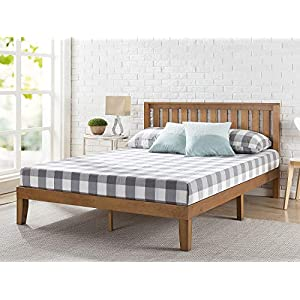 ZINUS Alexia Wood Platform Bed Frame with headboard / Solid Wood Foundation with Wood Slat Support / No Box Spring…