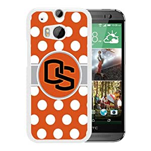 Newest M8 Case,NCAA Pacific 12 Conference Pac 12 Football Oregon State Beavers 04 White High Quality Hot Sale HTC ONE M8 Phone Case