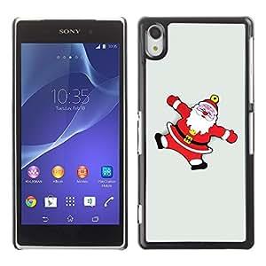 YOYO Slim PC / Aluminium Case Cover Armor Shell Portection //Christmas Holiday Santa Claus Snow Angels 1241 //Sony Xperia Z2