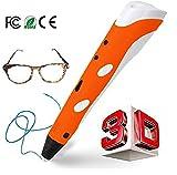 Imagery3D V1 - 3D Printing Pen for Doodling, Art & Crafts, 3D Modeling & Education, AutoOff for Kids, Free 3 PLA Filaments (Orange)