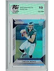 Carson Wentz 2016 Panini Prizm Pro #218 Refractor Rookie Card PGI 10 - Panini Certified - NFL Autographed Football Cards