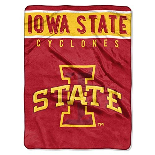 The Northwest Company NCAA Iowa State University Basic Oversized Raschel Throw Blanket, Red, One Size