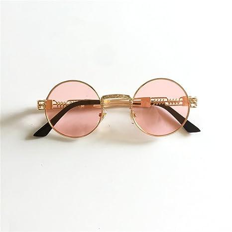 14b191a33 Amazon.com: Steampunk Mirror Sunglasses Gold and Black Sun Glasses Peekaboo  Vintage Retro Gothic (Black frame black lens): Clothing
