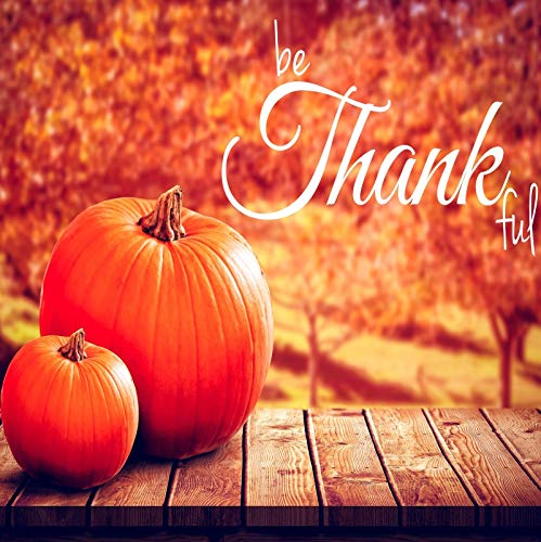 (Yeele 7x7ft Happy Thanksgiving Background for Photography - Photo Backdrop - Fall Pumpkin Ripe Wood Floor Backdrop Party Banner Decoration Boy Kid Children Baby Adult Portrait Booth Shoots Props)
