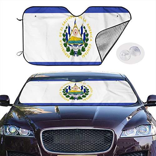 TUHUO Car Windshield Sunshade El Salvador Flag Blocks UV Rays Keeps Your Vehicle Cool Visor Protector Automobile Front Window Heatshield