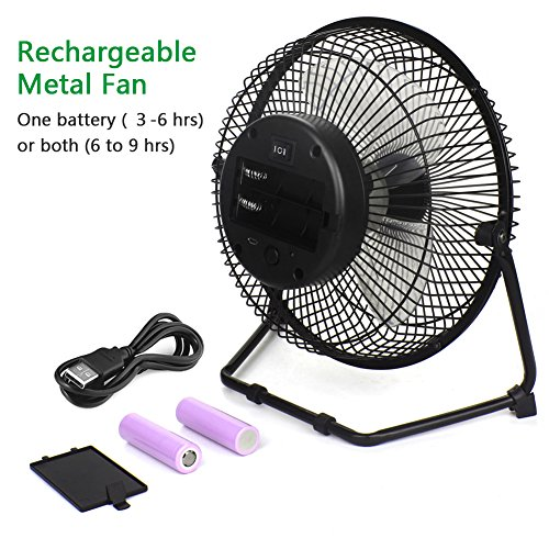 Battery Operated Desk Fan : Opolar biggest battery included two operated or usb