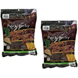 Golden Island Grilled Pork Jerky with Korean Recipe All Natural Fully Cooked with Gluten Free, No Preservatives, No Nitrites/ Nitrates, No Fillers That Sliced From Premium Pork Hams Gourmet Snacks - 2 Pack of 14.5 Oz Resealable Zipper Bags