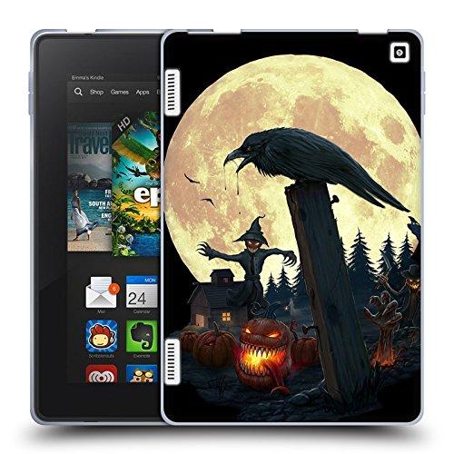 Official Christos Karapanos Halloween Theme Horror 2 Soft Gel Case for Amazon Fire HD 7
