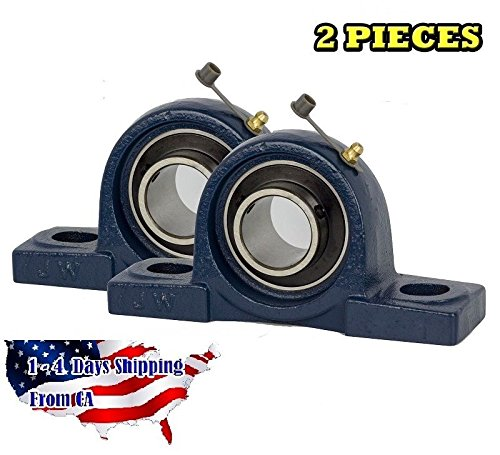Bearing 3/4 Inch Blocks - 2 Pieces- UCP204-12, 3/4 inch Pillow Block Bearing Solid Base,Self-Alignment, Brand New