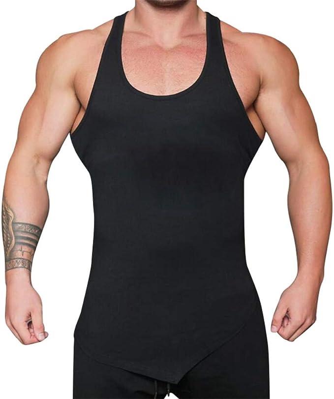 Shorts Pants Men Sleeveless Tracksuit Gym Sports Jogging Fitness Tee T-shirt