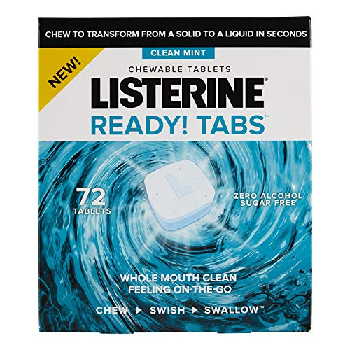 - Listerine Ready! Tabs Chewable Tablets with Clean Mint Flavor, 72 ct.