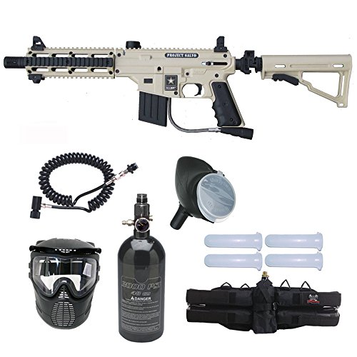 (Tippmann US Army Project Salvo Paintball Gun Prime N2 HPA Package - Tan)