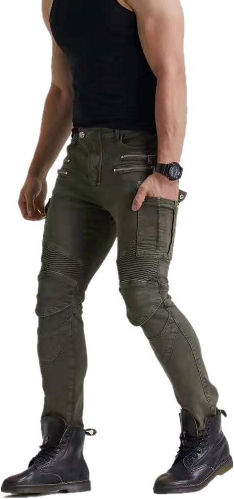Pantalones De Moto Los /últimos Pantalones De Moto Para Hombre Pantalones De Moto Antica/ída Con Versi/ón Mejorada De Esterilla Protectora Extra/íble Pantalones De Moto Off-road