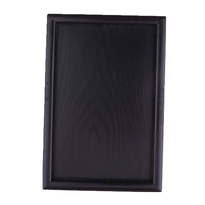 non-brand Sharplace Bandeja de Madera Decorativa (Color Marrón/Negro, Forma Redonda/Rectangular para Selección) - Negro, 36x27cm Rectangular: Amazon.es: ...
