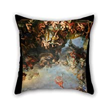 throw cushion covers of oil painting Charles Le Brun - Le Roi gouverne par lui-même, 1661 18 x 18 inches / 45 by 45 cm,best fit for seat,floor,divan,bedding,deck chair,dance room both sides