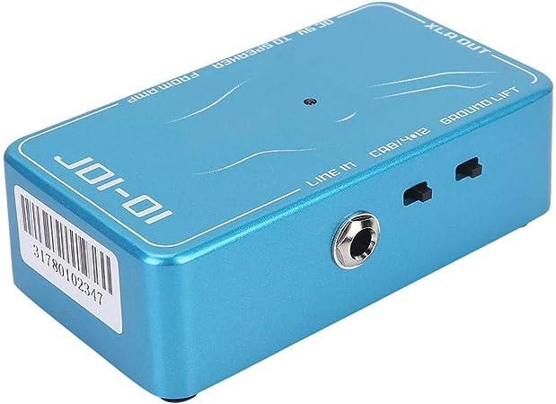 Huairdum Caja DI de 15 k ohmios, Interruptor de Guitarra 4x12, Caja DI de Guitarra, Salida XLR de 600 ohmios con elevación de Tierra para Aprender a Tocar la Guitarra eléctrica: Amazon.es: