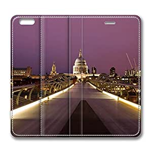 iPhone 6 4.7inch Leather Case - Millennium Bridge And St Pauls Fashion Luxury Protective Slim Fit Skin Leather Cover For Iphone 6 [Stand Feature] [Slim - fit] Flip Leather Case Cover for New iPhone 6