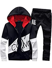 bd823121f Boys Sweatsuits Calvin Print Tracksuits Casual Hoodies Jogging Suits Sports  Active Workout Gym