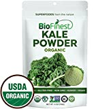 Biofinest Kale Vegetable Powder - 100% Pure Freeze-Dried Antioxidants Superfood - USDA Certified Organic Kosher Vegan Raw Non-GMO - Boost Digestion Skin Health - For Smoothie Beverage Blend (4 oz)
