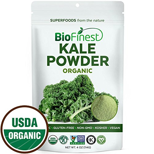 Biofinest-Kale-Vegetable-Powder-100-Pure-Freeze-Dried-Antioxidants-Superfood-USDA-Certified-Organic-Kosher-Vegan-Raw-Non-GMO-Boost-Digestion-Skin-Health-For-Smoothie-Beverage-Blend-4-oz
