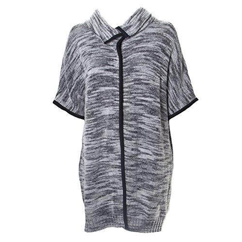 - Marina Rinaldi Women's Matilde High Collar Cardigan, Grey, XX-Large