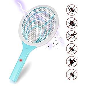 Lukasa Racchetta Zanzare Elettrica, Swatter Insetti Elettrico Repellente Mosquito Killer Elettronico Volare Anti-Insetti… 1 spesavip