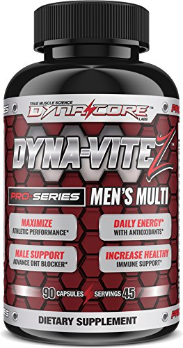 Dyna-Core Labs Dyna-ViteZ Mens's Critical Athletic Daily Multivitamin Supplement * Biotin* Vitamins A B C D E* Chromium * Zinc * Niacin * Magnesium * Manganese * Folic Acid & More * (45 Serv)