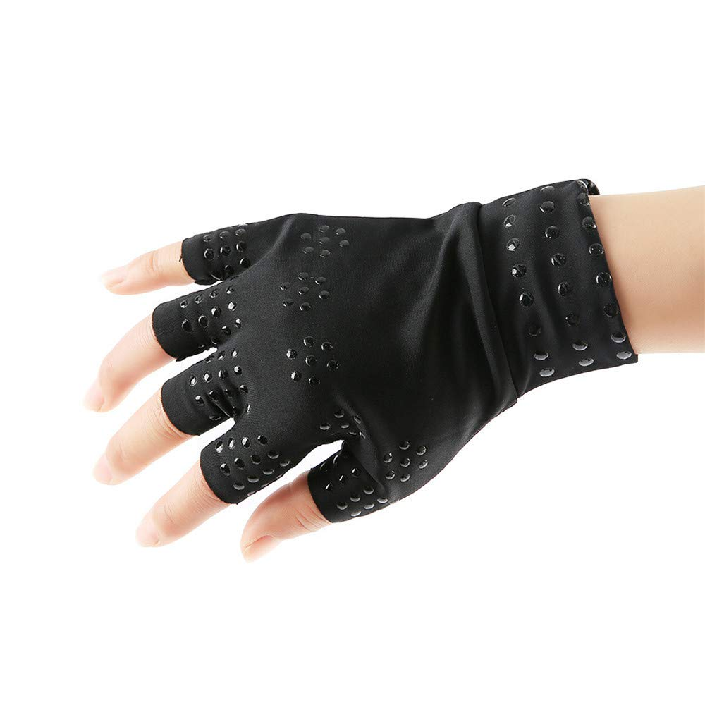 HighlifeS Arthritis Pain Relief Heal Joints Braces Supports Health Care Tool Gloves (Black)