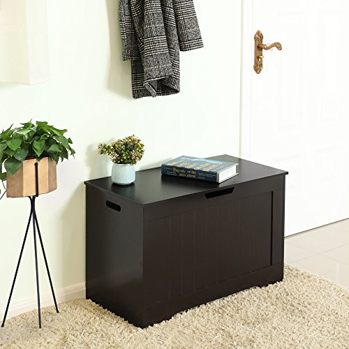 Songmics Lift Top Entryway Storage Chest Bench With 2