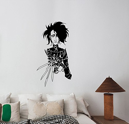 Edward Scissorhands Wall Sticker Removable Vinyl Decal 90s Movie Art Decorations for Home Room Bedroom Gothic Decor eds2