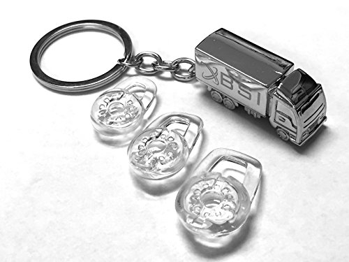 BSI 3 CLEAR EAR BUDS GEL SET FOR ROCKETFISH EX7 BLUETOOTH HEADSET + Free Silver Metal Truck Keychain with BSI(TM) LOGO