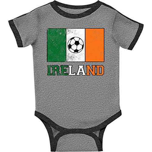 inktastic - Irish Soccer Infant Creeper 12 Months Ringer Heather and Smoke 2e1d3