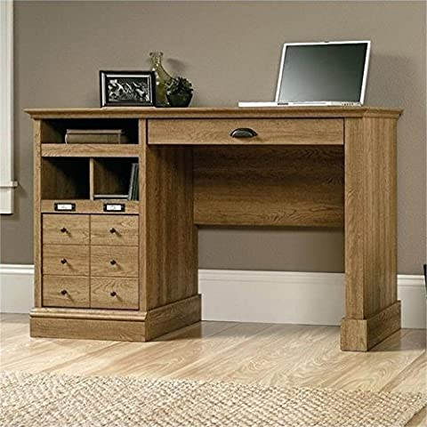 Bowery Hill Home Office Desk in Scribed Oak - Hill Home Office Collection