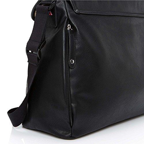 Babymel aliado sintética bolso cambiador, color negro