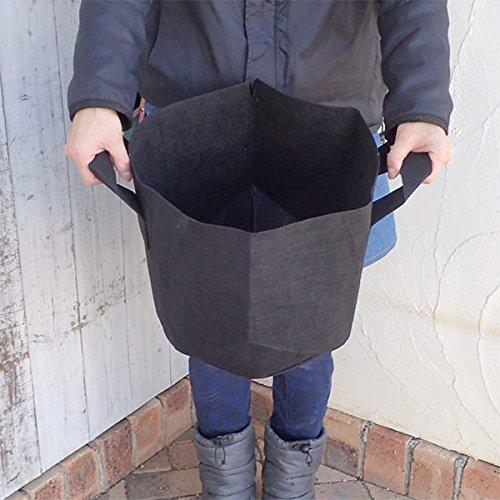 タフガーデンバッグ丸型 持ち手付き 不織布ポット