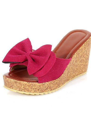 ShangYi Women's Shoes Wedge Heel Open Toe Sandals Office  Career/Dress Black/Blue/Yellow/Red
