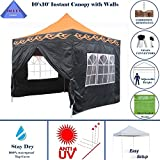 10'x10′ Ez Pop up Canopy Party Tent Instant Gazebo 100% Waterproof Top with 4 Removable Orange Flame – E Model By DELTA Canopies Review
