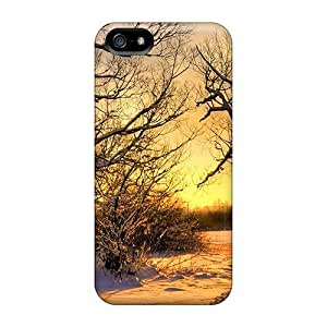 Excellent Design Golden Snow Hdr Phone Case For Iphone 5/5s Premium Tpu Case by lolosakes