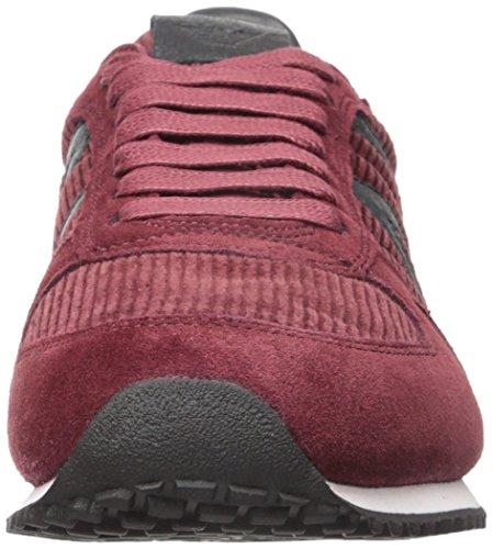Armani Jeans Mens Courderoy Trainer Moda Sneaker Bordeaux
