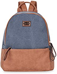 Vibiger Fashion Canvas Bags Casual Backpacks Travelling Daypacks for Women (Grey)