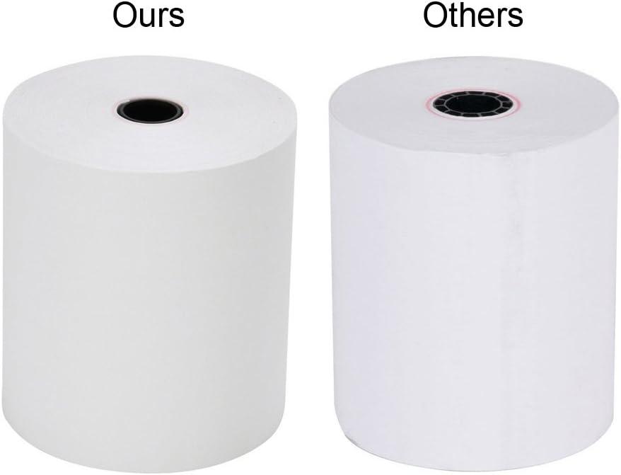 thermique Cash registres papier 3 1//8 x 230 10 Rolls
