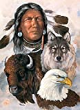 #2: May Trees Diamond Painting, Full Drill 5D Diamond Painting Kit Native American Patriarchs and Animals Arts Craft for Home Wall Decor Gift DIY Painting by Diamonds