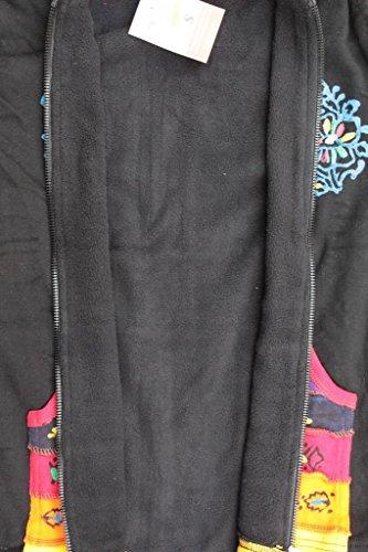 Rainbow shopoholic doublure polaire veste Hippie Noir Fashion femmes Noir FCOYwAqO