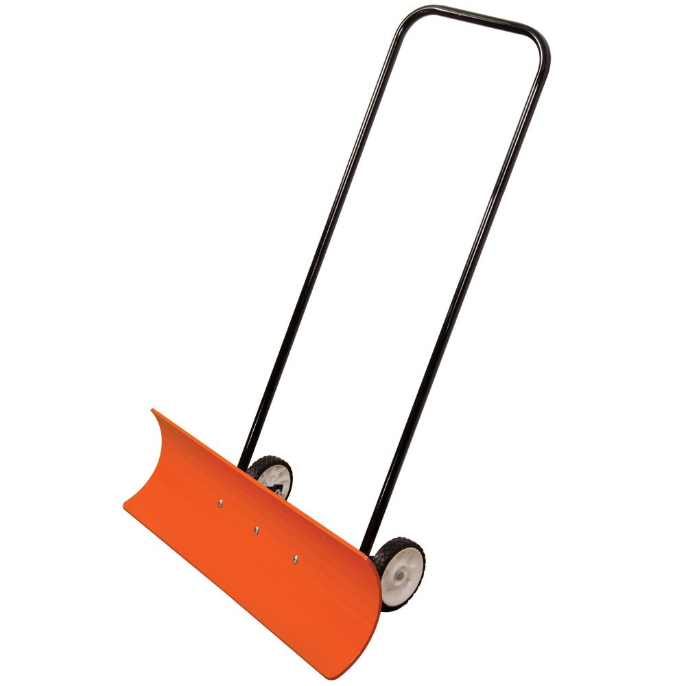 A.M. Leonard Poly Blade Wheeled SnoMover Snow Pusher - 36 Inches, Orange/Black by A.M. Leonard