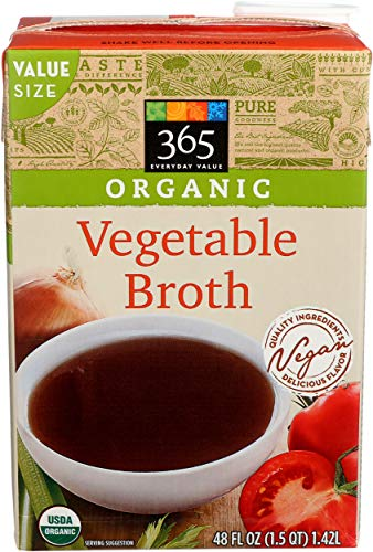365 Everyday Value, Organic Vegetable Broth, 48 fl oz
