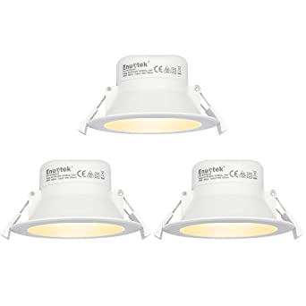 Lamparas Plafones Focos LED Empotrables de Techo Downlights LED 10W Luz Calida 3000K IP44 AC100~