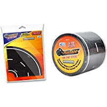InRoad Toys Set of 2 PlayTape Classic Road Series 4 inches Curves Single Roll 30 x 2 inches PlayTape Black Bundled by Maven Gifts