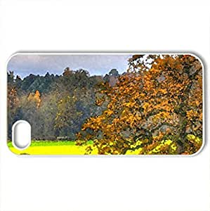 Lovely landscape - Case Cover for iPhone 4 and 4s (Watercolor style, White)
