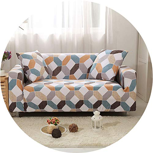 Stretch Sofa Cover Elastic Couch Cover Loveseat Chair L Style Sofa Slipcover Fully Wrapped Corner Sofa Covers housse de canap,Color 13,4-Seater 235-300cm ()